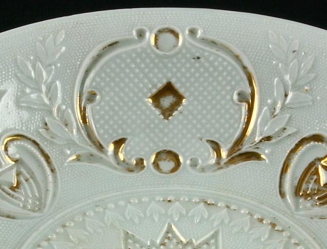Meissen Copy of Sandwich Lacy Pressed Compote (45I) Detail